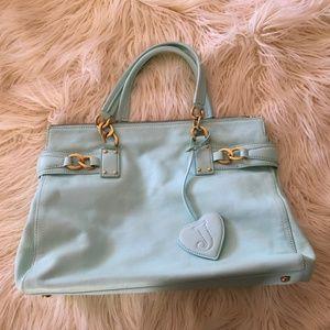 Juicy Couture Aqua Leather Handbag